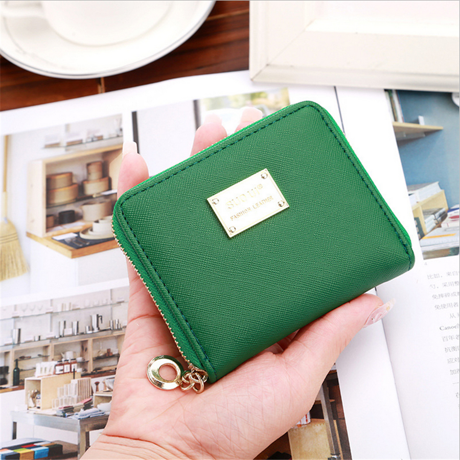 PU Leather Women Purse Wallets Female Short Brand Card Wallet Card Ladies Small Wallets Clutch Purse For Coins D1038-2 ttou female small standard wallet solid simple pu leather women short wallets hasp vintage lady girls coins purse card holder