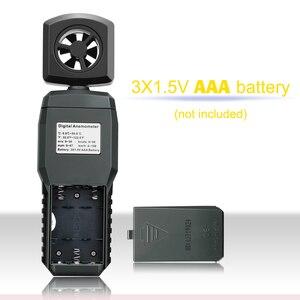 Image 5 - الرقمية المحمولة LCD مقياس شدة الريح ميزان الحرارة سرعة الرياح جهاز القياس قياس سرعة الهواء 4 المدى عالية منخفضة التنبيه ST9606