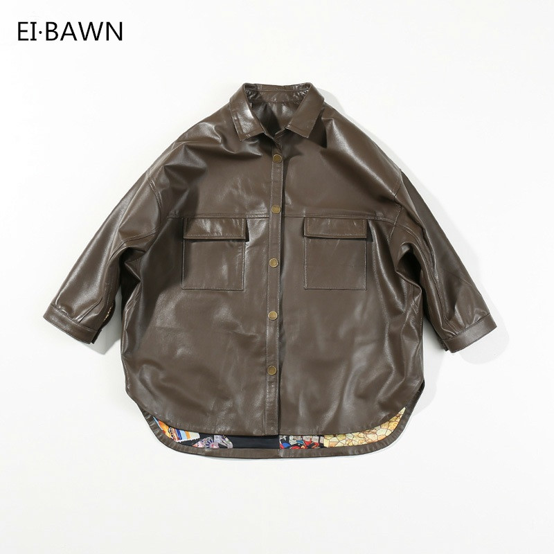 2018 Genuine Leather Jacket Women Black Sheepskin Bomber Jacket Jackets Vintage Women Coat Plus Size Leather Jackets for Women