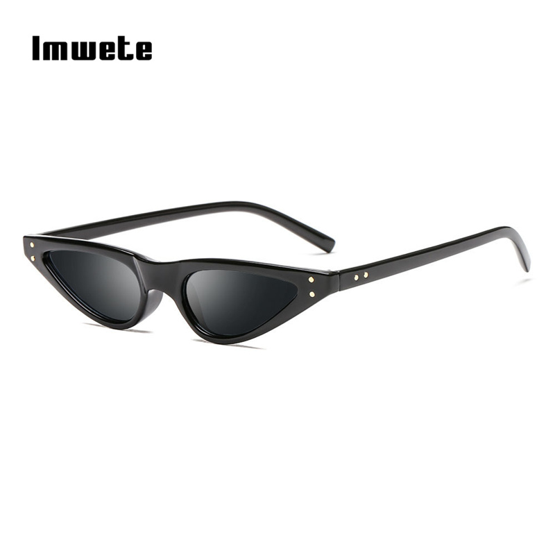 Imwete Small Cat Eye Sunglasses Women Retro Triangle Sunglass Brand Designer Eyewear Cateye Vintage Eyeglasses Sun Glasses