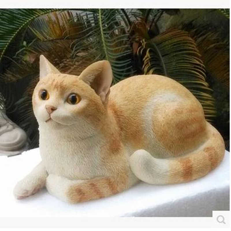 Simulation resin cat crafts, home desktop decoration ornaments, beautiful animals