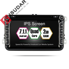 Isudar Car Multimedia Player Android 7 1 2 Din Auto DVD For Volkswagen VW Passat POLO