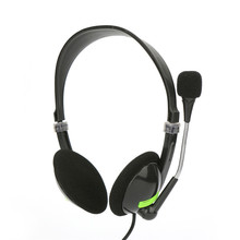 Проводные Игровые наушники с микрофоном 3,5 мм разъем Mic VOIP регулируемые наушники для ПК ноутбук Настольный