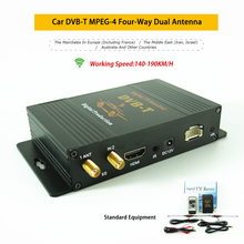 Receptor de tv digital para carro, 140-190 km/h, hd, tv digital, turner dvb-t MPEG-4 para carro, frança, israel, austrália com hdmi usb