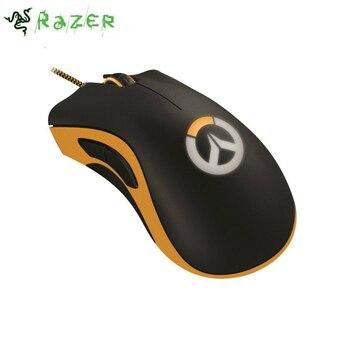 100% Orginal Razer DeathAdder Chroma Overwatch Edition Gaming Mouse 10000 DPI RGB Ergonomic PC Gamer USB Wired Retail Package เมาส์