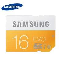 100% originele Samsung EVO sd-kaart SDHC/SDXC UHS-1 16 GB 32 GB 64 GB Class 10 48 MB/s Geheugenkaarten voor Camera in Retail verpakking