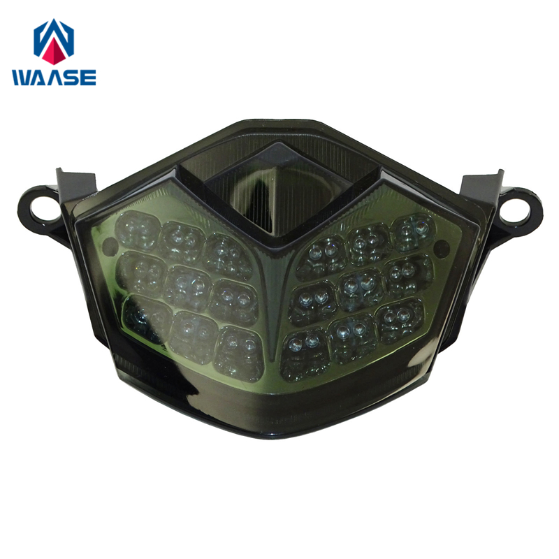 Waase para kawasaki z750 2007-2012/z1000 2007 2008 2009 chrome traseiro luz de freio sinais de volta integrado luz led
