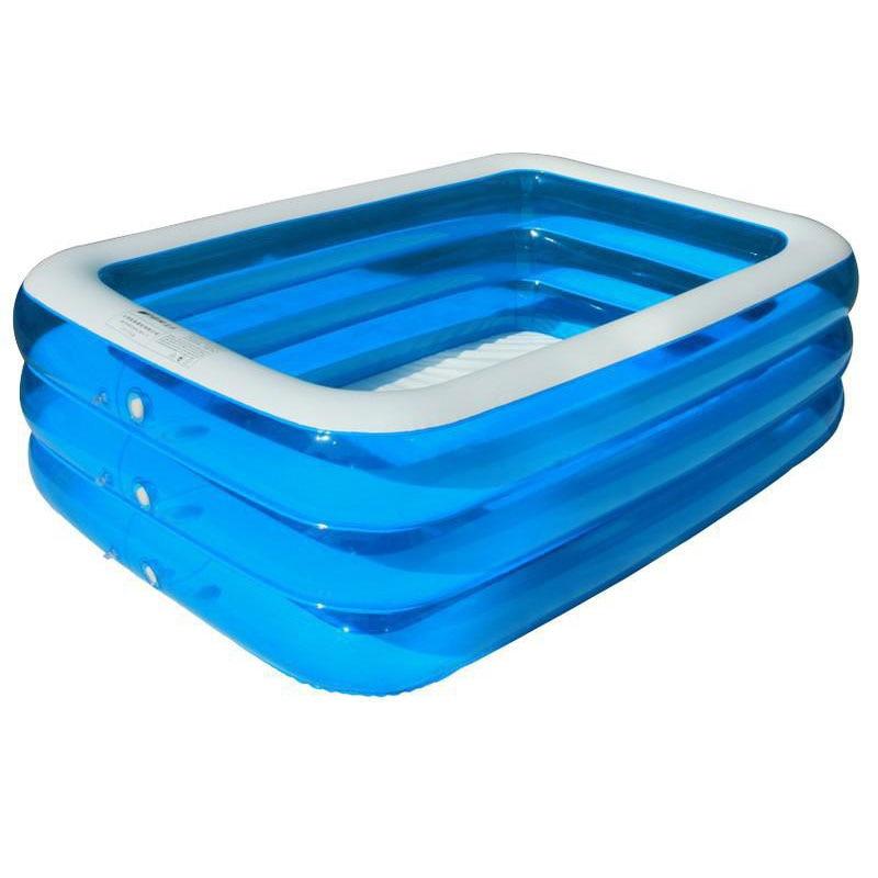 Intime Swim Center Family Inflatable Pool 196x143x60cm PVC Kids Swimming Pool