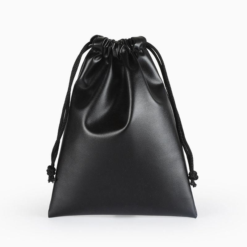 2019 New Fashion PU Leather Gift Bag Jewelry Pouch Drawstring Wedding Waterproof Organizer