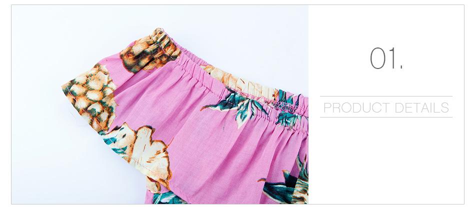 HTB1BnGsX.z.BuNjt bXq6AQmpXa0 - 2 PCS/Set Summer Baby Girls Clothing Set Pineapple Print Off Shoulder Top+Skirt Ruffle Girls Dress Beach Sundress Robe Fille