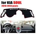 Tampa do painel do carro mat para KIA SOUL 2010-2013 anos da movimentação da mão Esquerda dashmat pad traço cobre auto dashboard acessórios