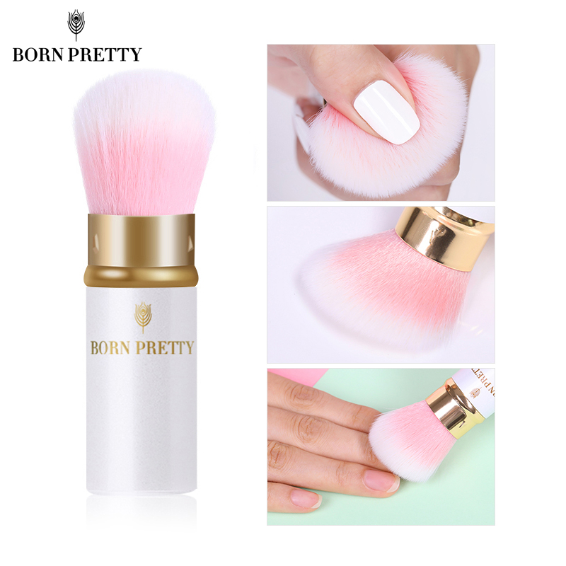 BORN PRETTY Colorful Pink Nail Cleaning Brush Soft Acrylic UV Gel Powder Dust Remover Manicuring Nail Care DIY Salon Tool