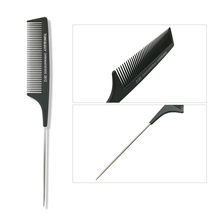 New Black Professional Salon Combs Set Stainless Steel Anti-static Carbon Heat Resistant Salon Hair Trimmer Brushes Styling Tool