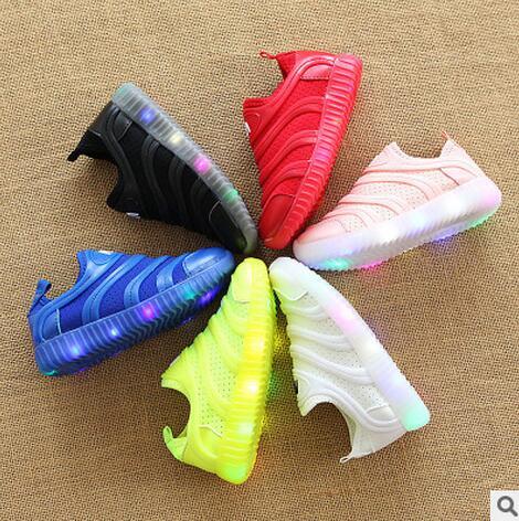 Новинка весны 2017 года мужской женский дети повседневная обувь с легкие спортивные Обувь LED Карамельный цвет Обувь для мальчиков ботинки для... ...