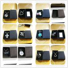 (with BOX )Double Heart Sister Silver Parrot Glowing Ball Turtle Wish Horse Dragonfly Travelers Footprints Buck Doe necklace