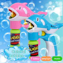 Dolphin Automatic Flashing Bubble Music Blowing Machine Toy Colorful Soap Kid Bubbles Toys  YJS Dropship