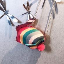 New Korean Version Lady's Shoulder Bag Fashion Rabbit Shape Simple Casual Crossbody Chain Bag Women's Bag
