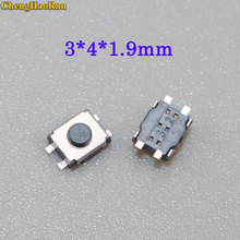 ChengHaoRan 100pcs Power Micro Button Switch 3X4X1.9mm Momentary Push Button Tactile Button Reset Button Switch 4Pin
