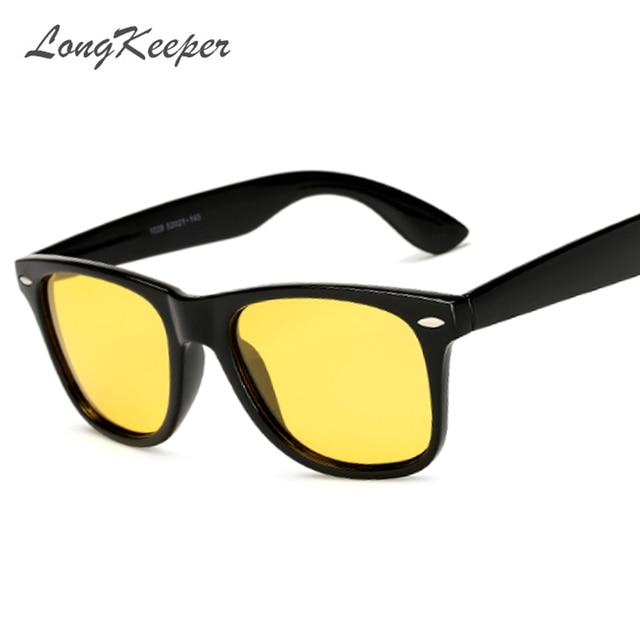 87f1924eba2 LongKeeper New Mens Yellow Night Vision Sun Glasses Women Polarized High  Quality HD Lens Night Driving Safety Eyewears UV400