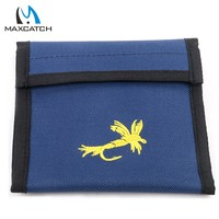 Blue 12Layer Fishing Line Leader Wallet Storage Bags With 12 Pouch Carp Fly Fishing Tackles Bag