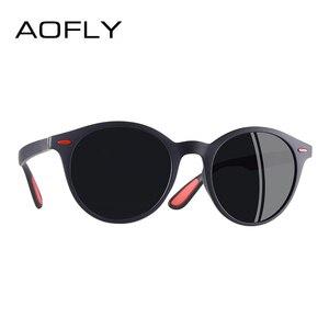 Image 3 - AOFLY מותג עיצוב גברים משקפי שמש מקוטב סגלגל מסגרת משקפי שמש נשים גברים בציר יוניסקס משקפי Oculos דה סול AF8112