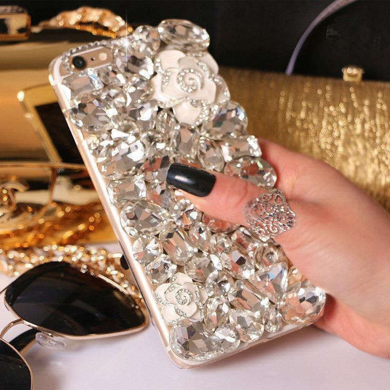For HTC U11 Eyes Cover Case Luxury Glitter Diamond Crystal Rhinestone Phone Case Soft back Cover - intl