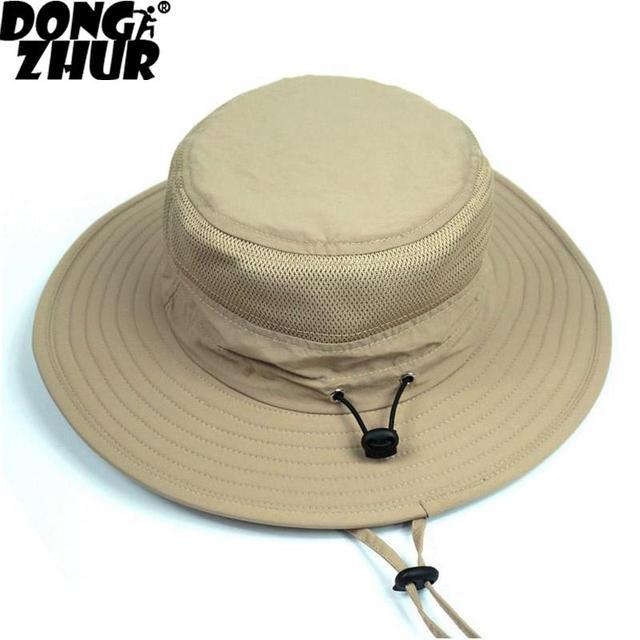676a004f0cb Red Blue Gray New Waterproof Long Wide Brim Bucket Hat Men Women Hat Summer  UV Protection