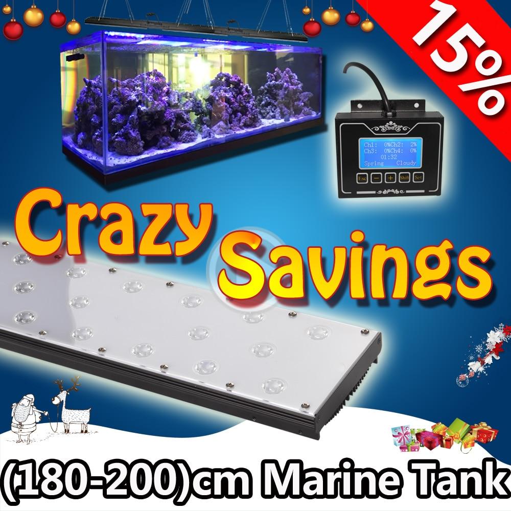 Fish in aquarium cycle - Dsuny 180cm 72 6ft Full Spectrum 180w Programmable Led Marine Aquarium Light Fish Lamp Sunrise Sunset Lunar Cycle