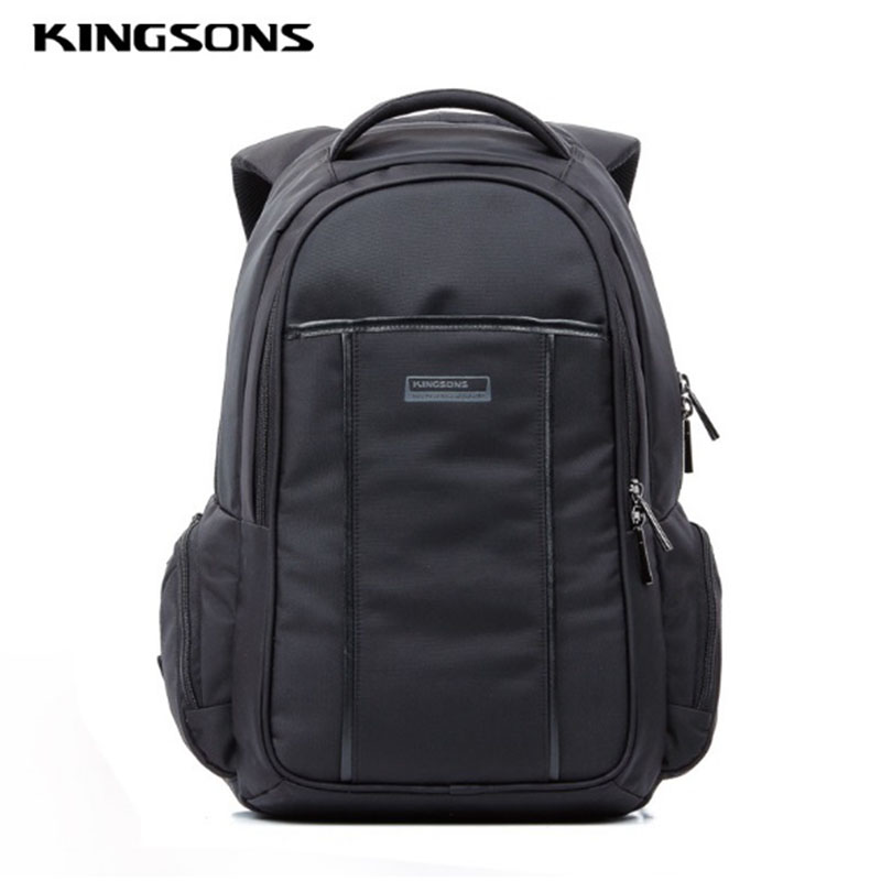 Kingsons Men Backpack Black Nylon School Bags For Teenagers Big 15.6 inch Notebook Computer Laptop Backpack New Fashion Men large 14 15 inch notebook backpack men s travel backpack waterproof nylon school bags for teenagers casual shoulder male bag