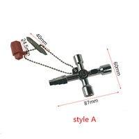 Universal Kreuz Schlüssel Wrench Multi-verwenden vier-in-einem Inneren Dreieck Wasser Meter Ventil schlüssel Hand Schlüssel hand werkzeuge