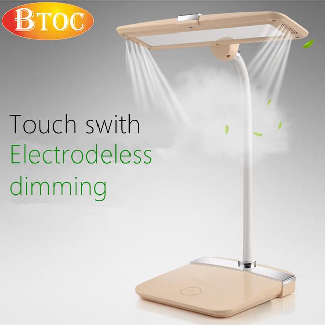 Interruptor de toque escurecimento Eletrodo 5000 K luz quente dobra Flexível LEVOU lâmpada de mesa proteger os olhos de Leitura, aprendizagem, trabalho