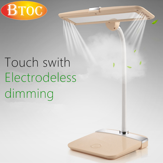 Touch switch Electrodeless dimming 5000K warm light Flexible bending LED desk lamp protect one's eyes Reading, learning, work