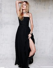 vestido de noiva vestidos festa longo sleeveless 2014 new fashion black long Formal dress party evening elegant