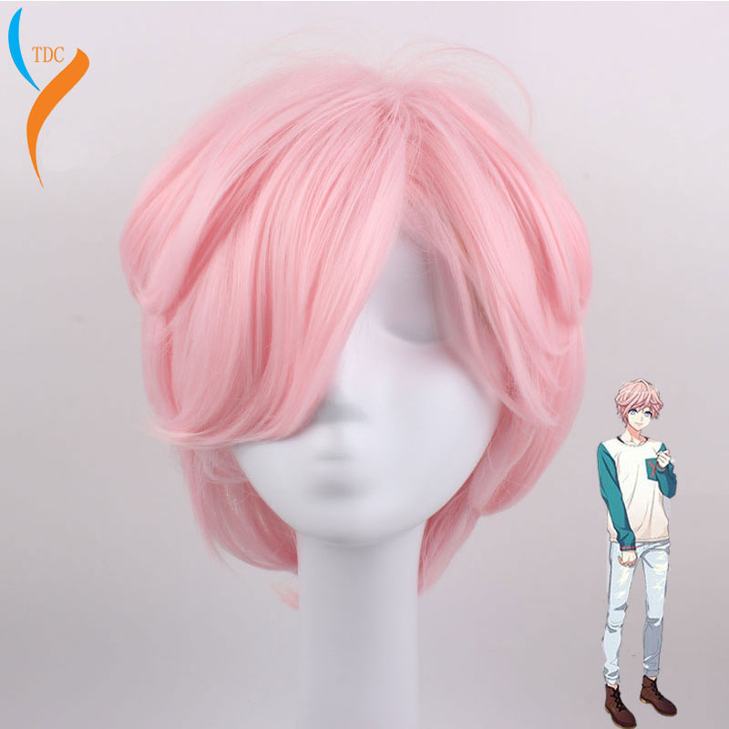 New Hand Tour A3! Cosplay Muku Sakisaka Cosplay Wigs Heat Resistant Synthetic Halloween Carnival Party Hair Wigs+Wig Cap