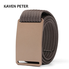 Military Belt For Men Aluminum Buckle Brown Waist Canvas Tactical 1.5  Nylon Webbing Cinturon Hombre 100 To 160