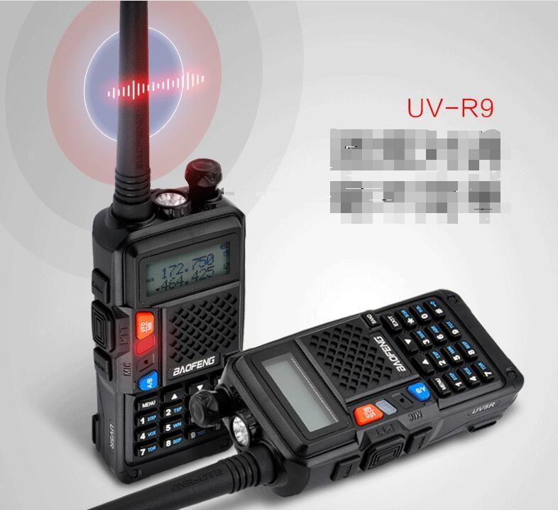 Dual band 1800mah baofeng R9 walkie talkie two way radios hot sale FM radio function CB ham radio R9 professional radio-in Walkie Talkie from Cellphones & Telecommunications