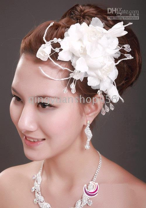 Models Fitted With The Five Small Hat Bridal Hair Accessories