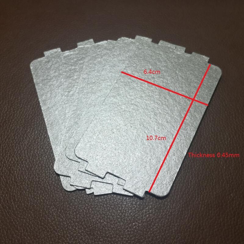 5PCS/lot Microwave Oven Mica Plate Sheet 0.45mm Thicker 10.7X6.4cm5PCS/lot Microwave Oven Mica Plate Sheet 0.45mm Thicker 10.7X6.4cm