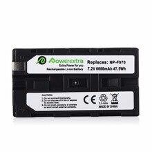 Powerextra 6600mAh 7.2v Li-ion Camera Battery For Sony NP-F770 NP-F950 NP-F960 NP-F970 NP-F970/B L F330 F530 Batteries