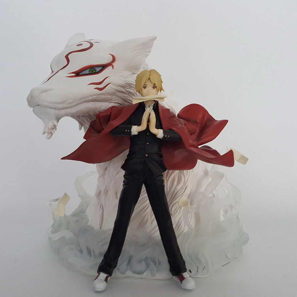 Anime Natsume Yuujinchou Action Figures 200mm PVC Collectible Model Toy Natsume's Book of Friends Toys 18cm japanese anime natsume yuujinchou takashi natsume with nyanko sensei pvc action figure model collection toy gift