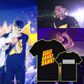 ALIPOP KPOP Fan 2016 Hot BIGBANG Album G-DRAGON GD 2015 MADE Cotton Tshirt Black T Shirt Short-Sleeve T-shirt Tops PT033
