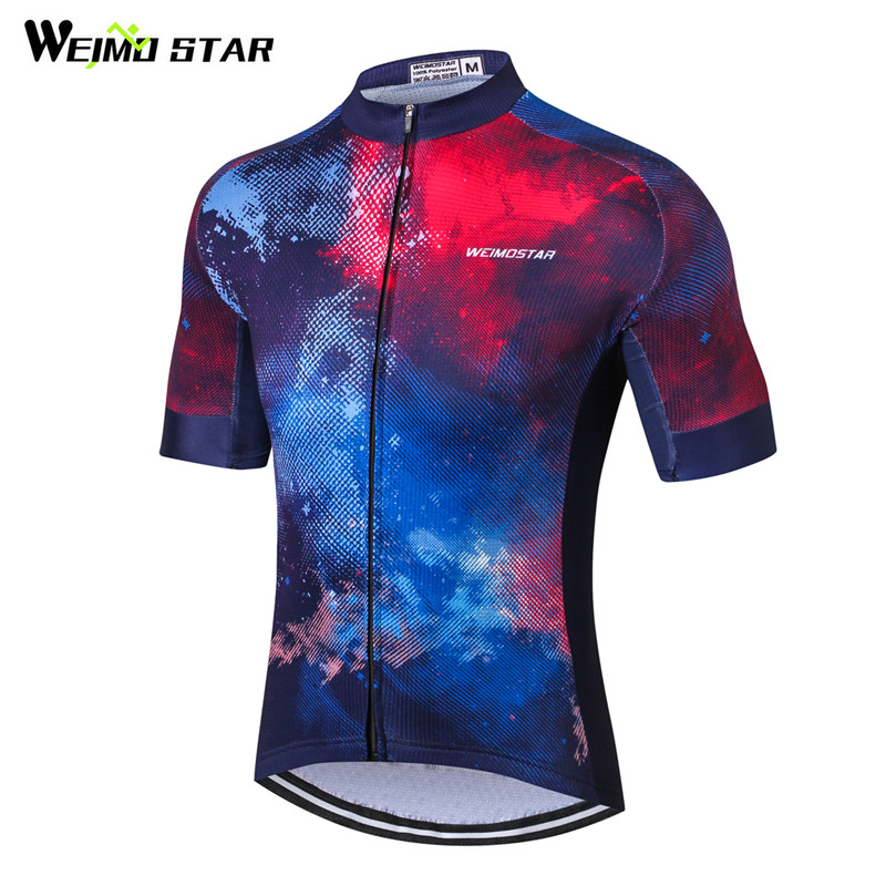 2018 Cycling Jersey Men Racing Blue Bike Jersey Shirts Bicycle Clothing Ropa Ciclismo Maillot Tops Pro Team