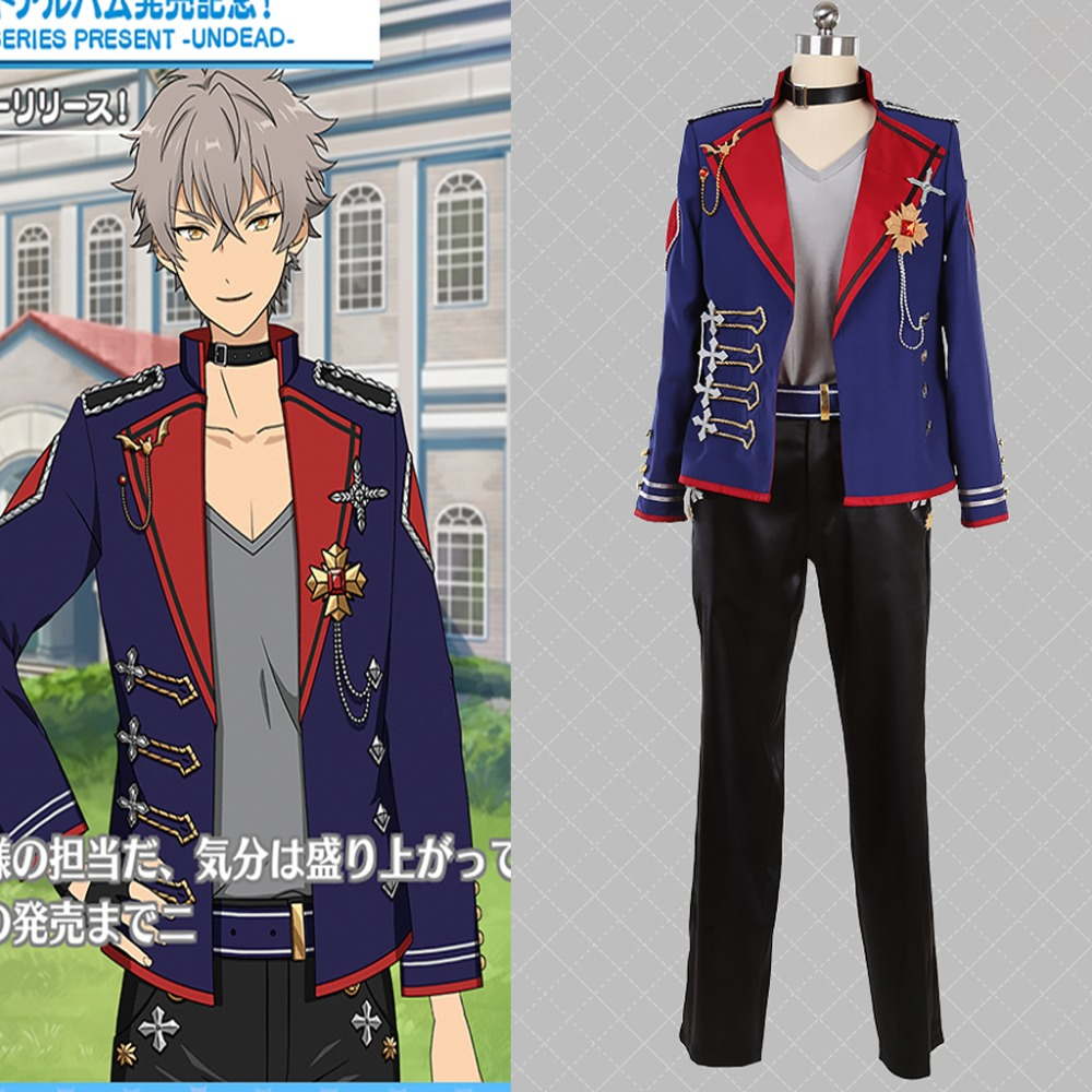 Cosplaydiy Custom Made Ensemble Stars UNDEAD Album Series Present Cosplay Costume ES  sena izumi Stage Costume Any Size L320
