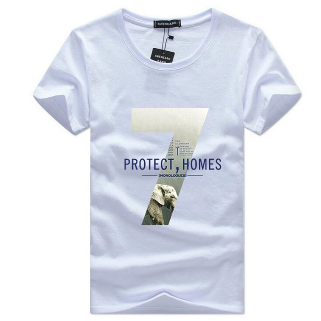 c3c323bb7 Europe Protect Homes Printed T-Shirt Short Sleeve Summer Men Casual O Neck Cotton  T Shirt boys S-5XL Youth Loose big size Tops