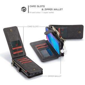Image 5 - Portfel wielofunkcyjny etui na telefony dla Huawei P30 Lite P30 Pro Case Zipper odwróć skórzana pokrywa magnetyczna dla Huawei Mate 20 Pro przypadku