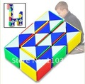 Educational Magic Toy Game 3D Snake Twist Snake Cube Puzzle free shipping