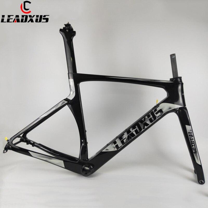 LEADXUS 2019 Newest Disc Brake Aero Carbon Fiber Road Bicycle Frame Road Aero Racing Bike Frame&Handlebar 45/47/49/52/54/56/58cm