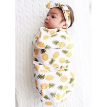 Good Quality New Newborn Baby Print Swaddle Wrap Blanket Sleeping Bag Swaddling Receiving Blankets +Headband цена