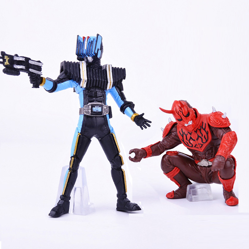 New Toy! 2pcs/lot Masked Rider Action Figure Kamen Rider Model Figures Assembly Toys Gifts For Boys