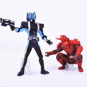 Image 1 - Novo Brinquedo! 2 pçs/lote Kamen Rider Masked Rider figura de ação modelo figuras brinquedos de Montagem presentes para meninos